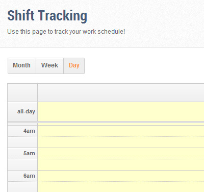 Shift Tracking